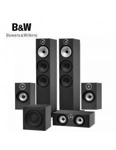 B&W 603+606+HTM6+ASW610