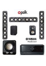 Polk S35e 5.1 On Wall LCR Pack + Yamaha RX-V4A